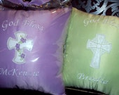 Baptism - Christening - New Born Personalized Keepsake Pillow