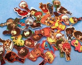 DISCONTINUED 4-5 Anime Chibi Charm Keychains and/or Phone Charms Of Choice