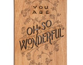 You Are Oh So Wonderful Wood Mother's Day Card