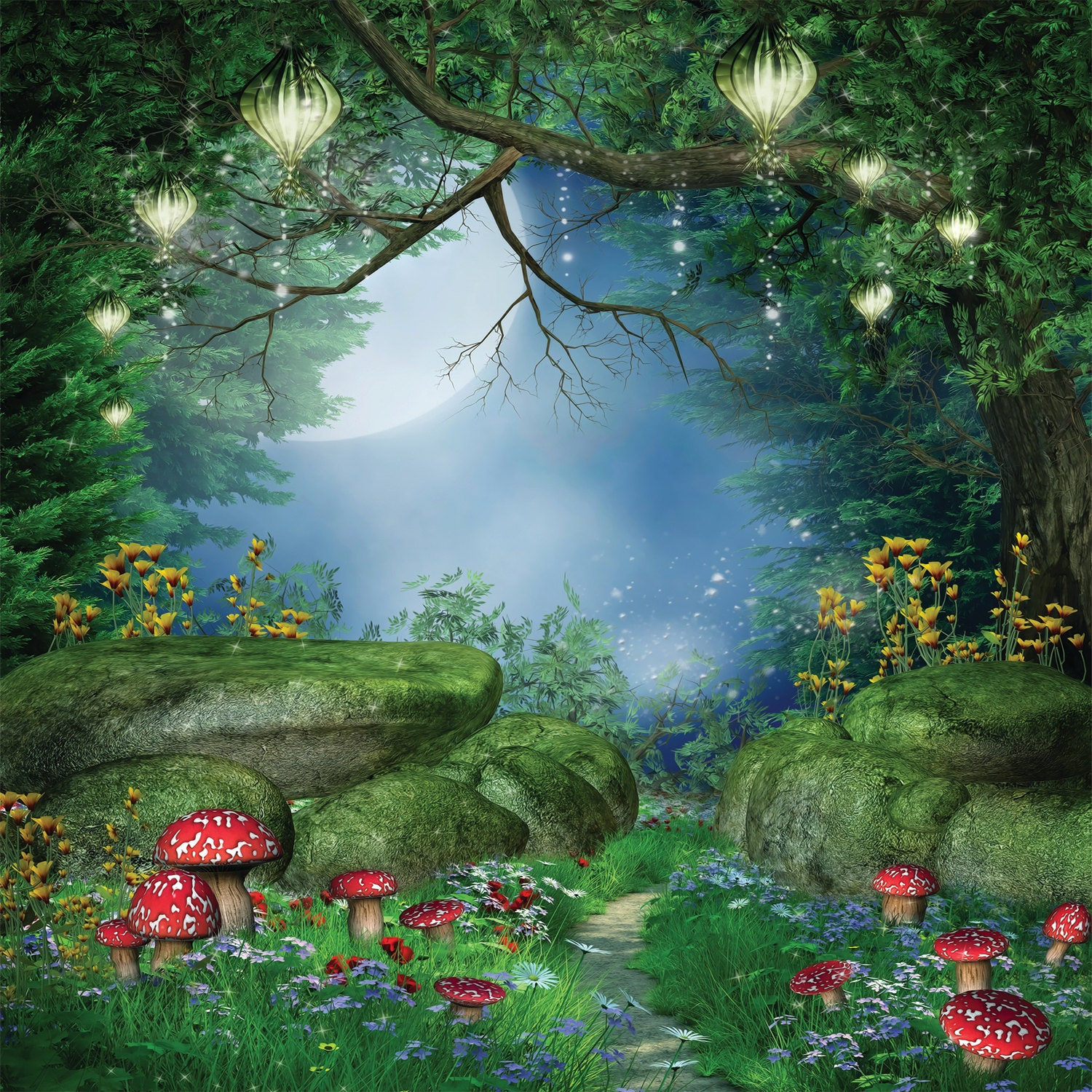30 X 30 W Rush Enchanted Forest Vinyl