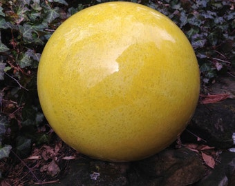 Concrete Garden Ball in Sunshine Yellow