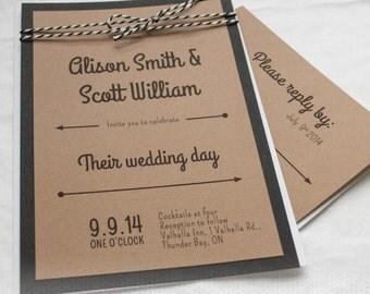 Arrows Kraft Simple Wedding Invitation