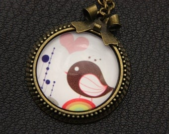 Necklace little bird 2525C