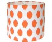 Lamp Shade Lampshade Jo Jo Slub by Premier Prints in Tangelo Made to Order
