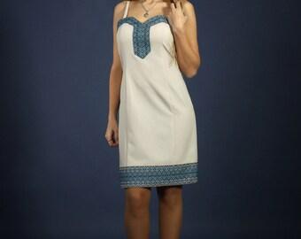 Ukrainian dress. Fashion embroidered dress. Girls ukrainian embroidery dress. BLUE Vyshyvanka. Ukrainian Women's dress. Вышитое платье