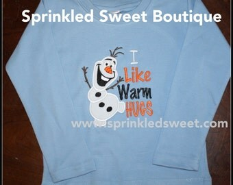 Frozen Custom Olaf Applique Boy Shirt Winter Build A Snowman Color Shirt Christmas Winter Perfect for First Disney Trip