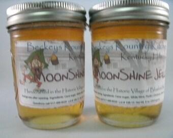 Two Jars MoonShine Jelly. homemade by Beckeys Kountry Kitchen jam fruit spread preserves