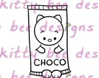 Choco Bar Kit Digital Stamp