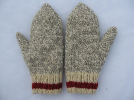 Sock Monkey Thrummed Mittens