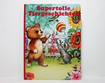 Supertolle Tiergeschichten (Super Great Animal Adventure For Little People) 1992 Vintage German Language Children's Picture Book
