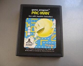 Vintage Atari Video Game Cartridge - Pac Man