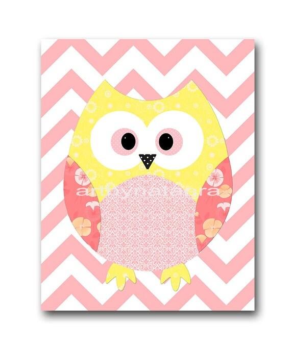 owl decor owl nursery baby girl nursery art decor nursery wall. Black Bedroom Furniture Sets. Home Design Ideas