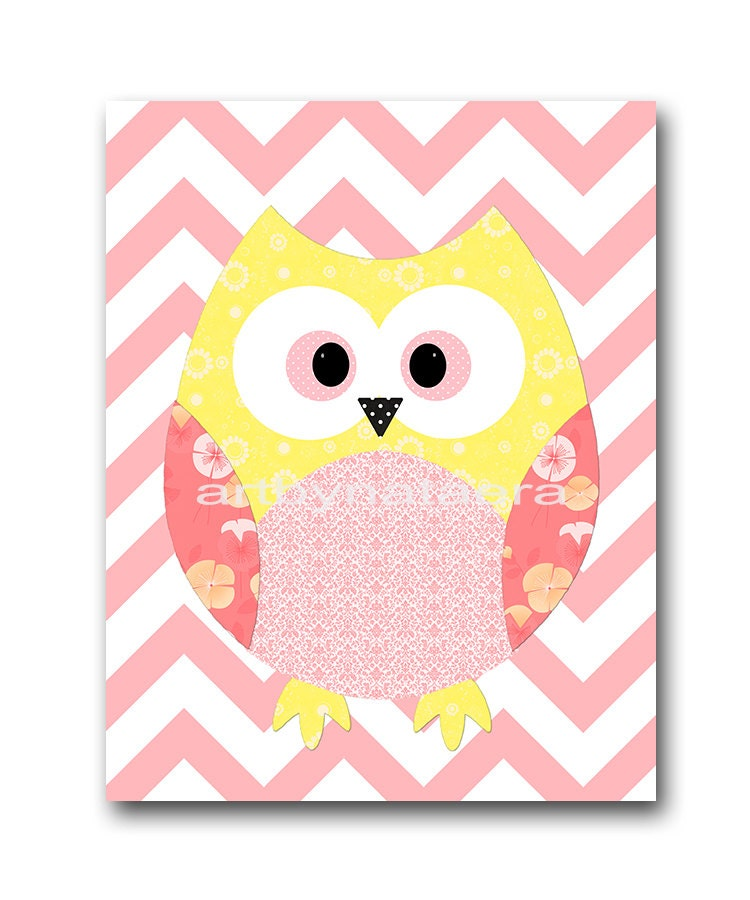 Owl decor owl nursery baby girl nursery art decor nursery wall - Girl owl decor ...