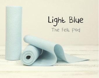 "100 Percent Wool Felt Roll - Wool Felt color LIGHT BLUE - 5"" X 36"" Wool Felt - 100% Wool Felt"
