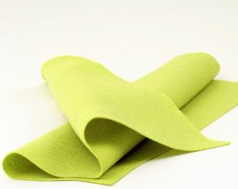 """100% Wool Felt Sheet in Color  GREEN PEAR - 18"""" X 18"""" Wool Felt Sheet - Merino Wool Felt - European Wool Felt"""