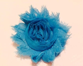 CLEARANCE  turquoise shabby rose hair clip