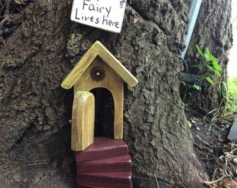 Stairs only, fairy garden, Fairy door stairs, Fairy garden steps, Wooden Steps, Miniature stairs, Marsala.