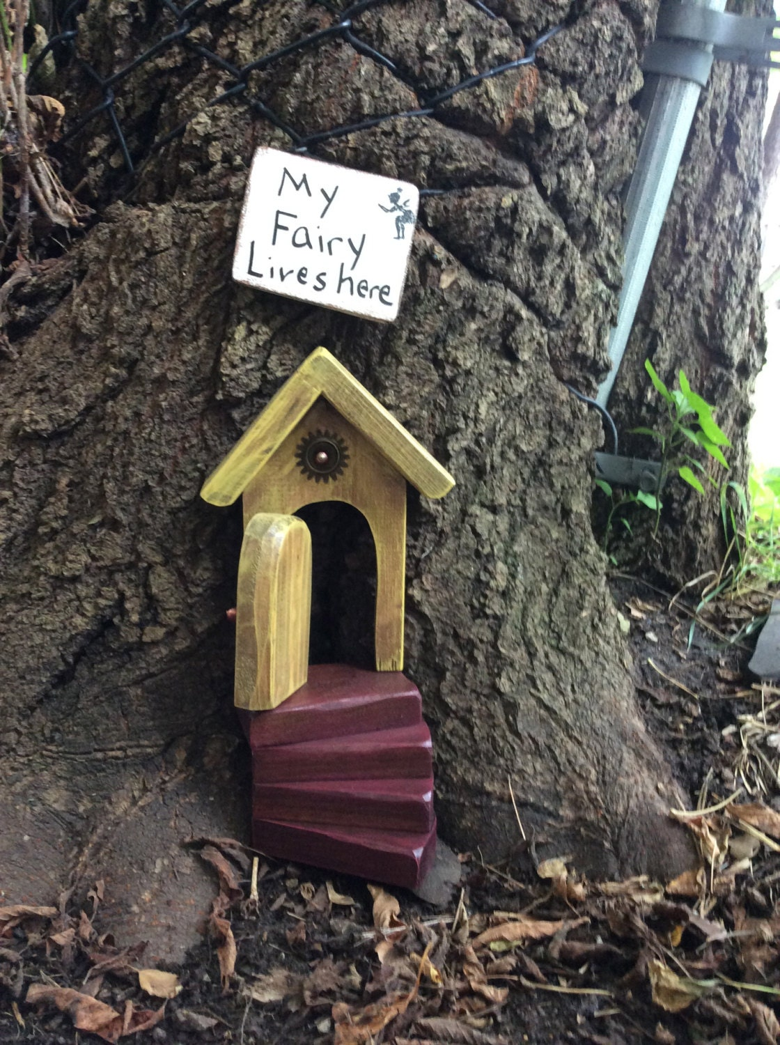 Stairs only fairy garden fairy door stairs fairy garden for The works fairy door