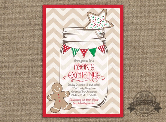 Cookie Exchange Invitation Christmas Party Invitation Christmas