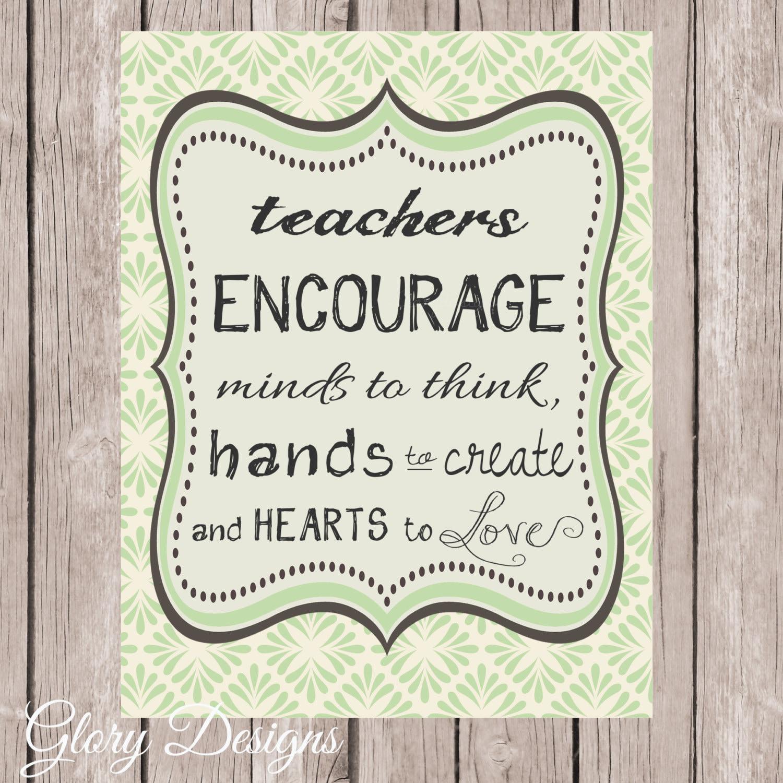 Teacher Appreciation Gift Teacher Quote Teacher Printable