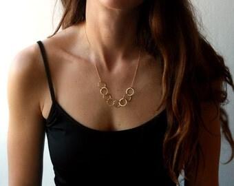 Gold filled chain, gold necklace, unique necklace, Impressive necklace