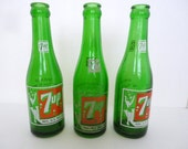 Vintage 7UP Bottle ONE Minneapolis MN bottle Swimming Girl Bubbles Collectible Instant collection Spring green