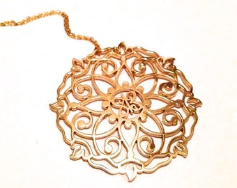 One Meaning Big Mandala Necklace - all of our jewelry means I Love You