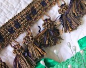 Rich, Elegant Decorator Weight Fringe Tassel Trim for Home Decor and Sewing Projects--Copper, Green, Purple