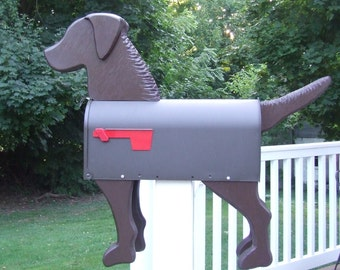 Brown Dog Mailbox (Chesapeake Bay Retriever) Banksville79 Exclusive