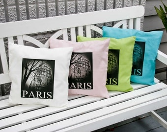 "French Linen Pillow Sham ""Parisian Apartment"""