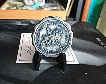 Work Horse Relief Drivers Medal Vintage