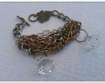 Inspired by 2 broke girls bracelet copper silver N brass