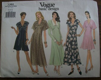 Vogue 1382, Ladies Dress, Ladies Jumpsuit, Vogue Basic Design