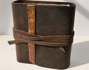 Western Handmade Leather Journal Bound Diary Rodeo Poet Notebook (283)