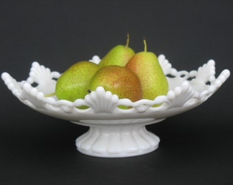 Vintage Westmoreland Ring and Petal Pedestal Bowl Wedding Centerpiece