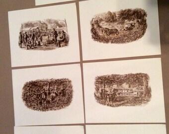 Vintage Ohio People & Transportation 1790-1920, 7 Prints