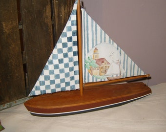 Nautical Country Sail Boat Decor