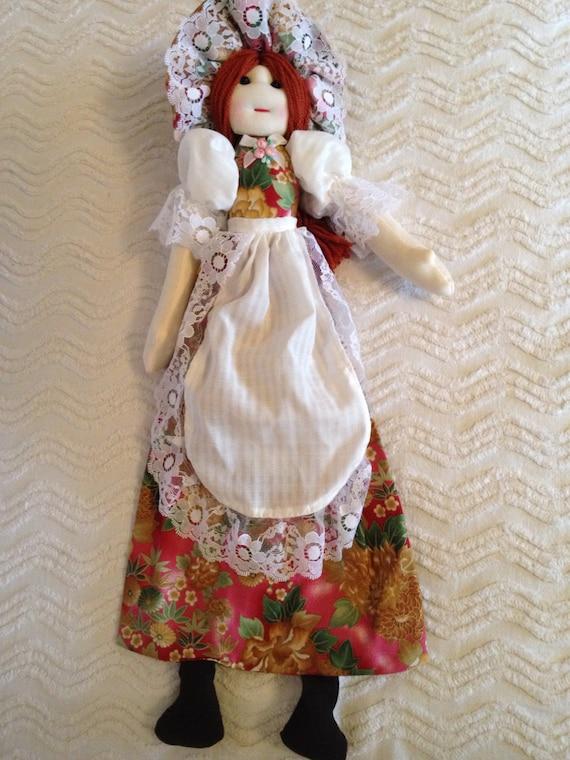 secret bag doll, cloth doll, soft doll, Christmas present, Birthday gift, cuddling doll, handmade Rag doll, display doll, play doll