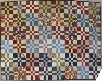Reproduction patchwork quilt from Harriet Beecher Stowe