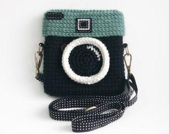 Lomo-Kamera Tasche hakeln / Pastell Mint Farbe von ...