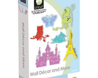 "Cricut  Cartridge - "" WALL DECOR &  MORE  "" - New  DECORATiONs CARTRIDGe"