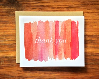 Color Blocked Thank You Note Set