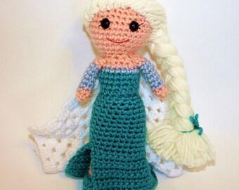 Ice Queen Crochet Doll