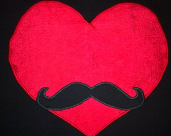Heart with Mustache t-shirt