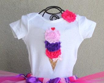 BERRY BLISS--Birthday Girl Ice Cream Cone Bodysuit or Shirt Only, sizes Newborn-5T