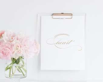 Your Love Has Captivated My Heart - Gold Foil Print