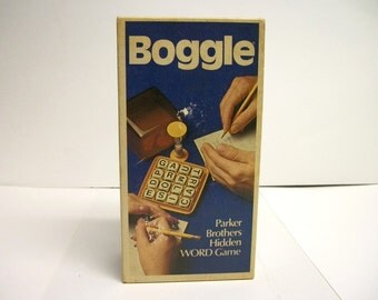 1976 BOGGLE Parker Brothers Hidden Word Game 2 to 6 Players