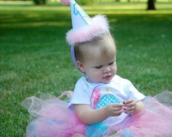 Monogrammed Birthday Party Hat
