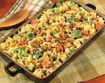 Chicken Pasta & Veggie Casserole Recipe