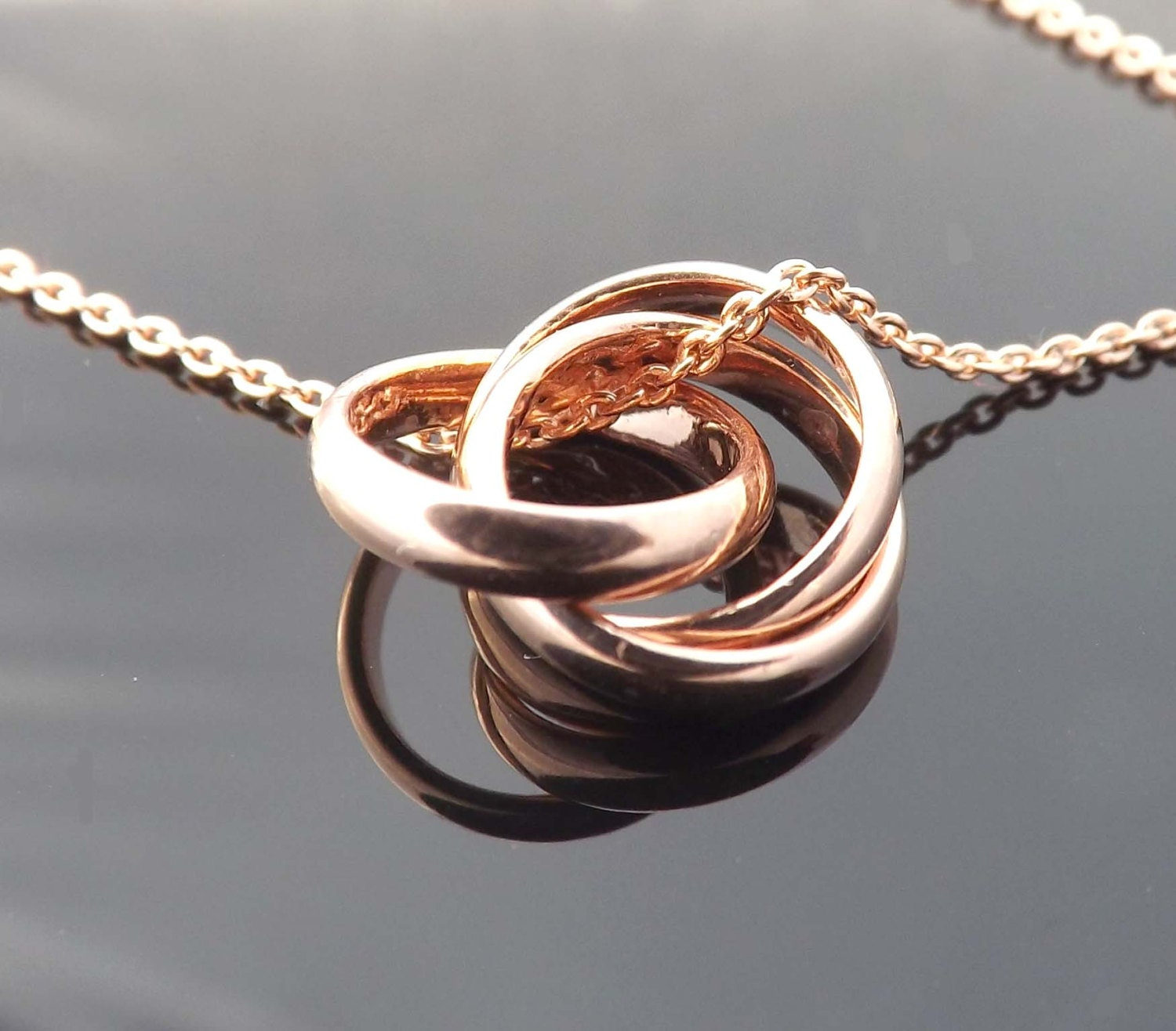 Infinity ring and necklace traumspuren ring pendant necklace three ring infinity sterling silver aloadofball Choice Image